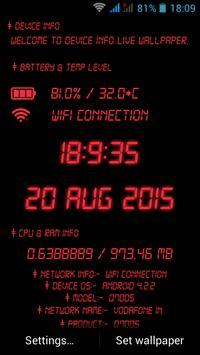 device info live wallpaper screenshot 3