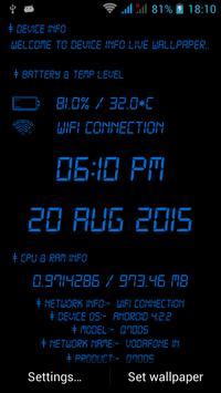 device info live wallpaper screenshot 4