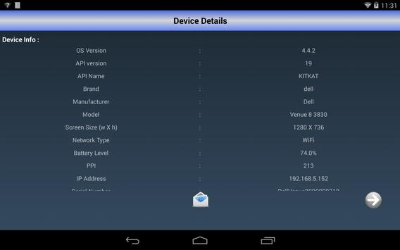 Device Details apk screenshot