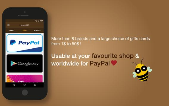 Honey Gift - Free Gift Cards screenshot 1