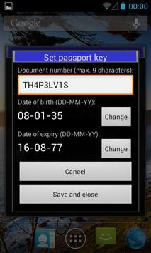 eCL0WN: an NFC passport tool apk screenshot