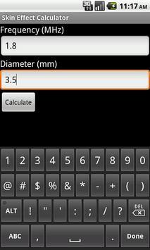 Skin Effect Calculator poster