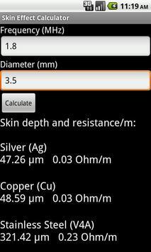 Skin Effect Calculator apk screenshot