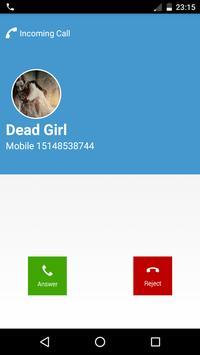 Dead Girl Calling Prank apk screenshot