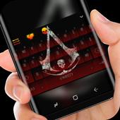 Skull Death Totem Keyboard Theme Dark Night icon