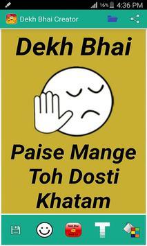 Dekh Bhai Meme Creator poster