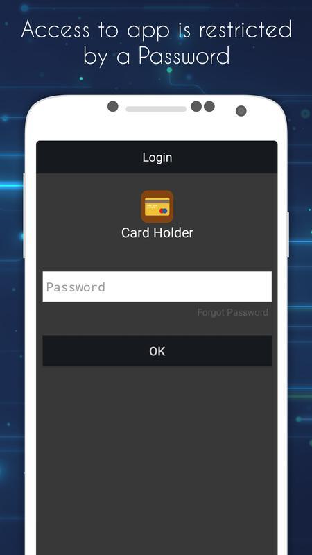 card holder mobile wallet poster card holder mobile wallet apk screenshot - Card Holder App