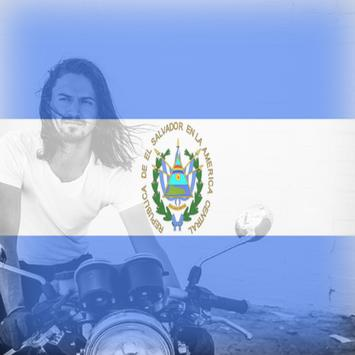El Salvador Flag On Face Maker : Photo Editor poster