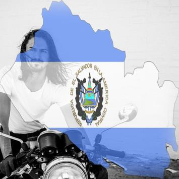 El Salvador Flag On Face Maker : Photo Editor screenshot 1