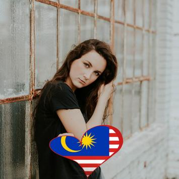 Malaysia Flag Heart Effect : Photo Editor poster