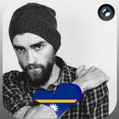 Nauru Flag Heart Effect : Photo Editor Zeichen