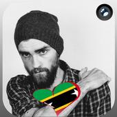 Saint Kitts Flag Heart Effect : Photo Editor icon