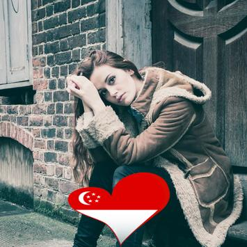 Singapore Flag Heart Effect : Photo Editor screenshot 1