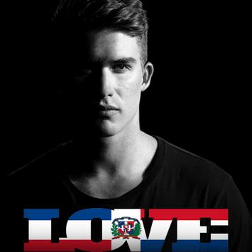 Dominican Flag Love Effect : Photo Editor poster