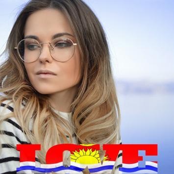 Kiribati Flag Love Effect : Photo Editor screenshot 1