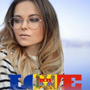 Moldova Flag Love Effect : Photo Editor screenshot 1