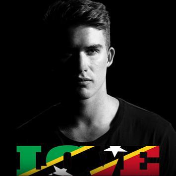 St Kitts & Nevis Flag Love Effect : Photo Editor poster