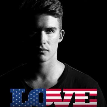 USA Flag Love Effect : Photo Editor poster