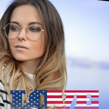 USA Flag Love Effect : Photo Editor screenshot 1