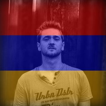 Armenia Flag On Face Maker : Photo Editor poster
