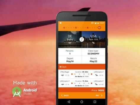 FlightBooking UI kit apk screenshot