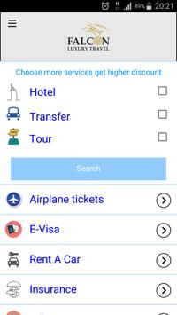 Falcon Luxury Travel apk screenshot