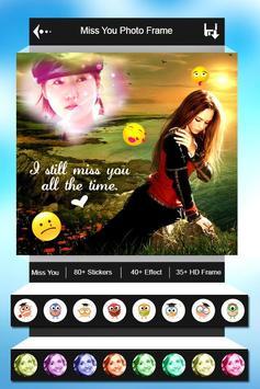 Miss You Photo Frame apk screenshot