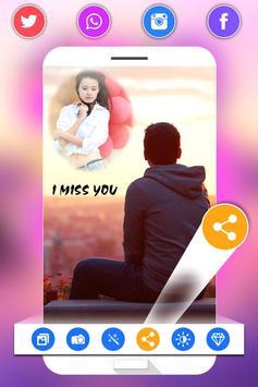 Miss You Photo Frame screenshot 12