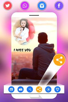 Miss You Photo Frame screenshot 4