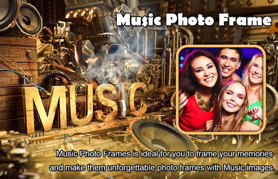 Boys with Music Photo Editor - Music Photo Frame poster