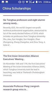 China Scholarships poster