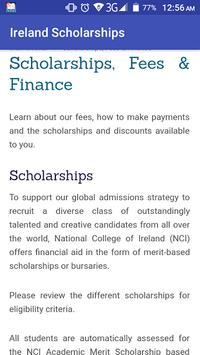 Ireland Scholarships poster