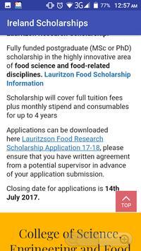 Ireland Scholarships screenshot 2