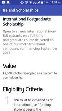 Ireland Scholarships screenshot 4