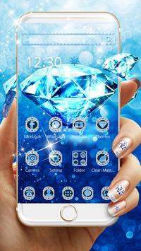 Blue Diamond Theme Wallpaper poster