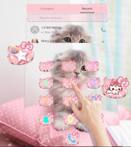 Android用 かわいいキティー キャットテーマ Cute Kitty Cat Apk1