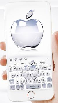Crystal Apple Keyboard Theme screenshot 1