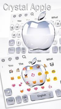 Crystal Apple Keyboard Theme screenshot 2
