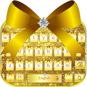 Diamond Gold Bow Keyboard Theme icon