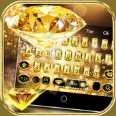 Gold Diamond Keyboard Theme icon