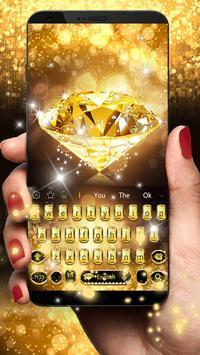 Gold Diamond Keyboard Theme poster