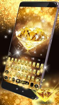 Gold Diamond Keyboard Theme screenshot 1