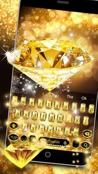 Gold Diamond Keyboard Theme apk screenshot