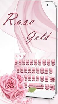 Pink Rose Gold Keyboard Theme screenshot 1