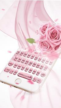 Pink Rose Gold Keyboard Theme screenshot 2