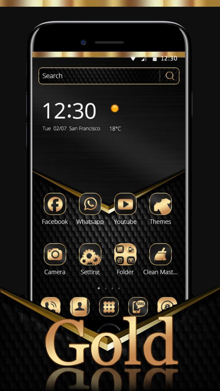 Android 用の 高級金ブラックゴールドテーマの壁紙 Apk をダウンロード