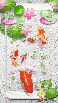Koi Fish Water Theme poster