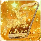 Gold Christmas Theme Wallpaper icon