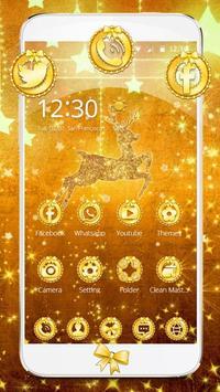 Gold Christmas Theme Wallpaper poster