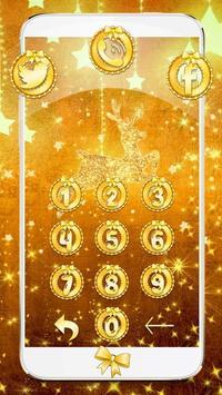 Gold Christmas Theme Wallpaper screenshot 2